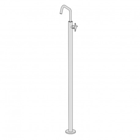 Dixi floor-standing basin mixer without pop-up waste and drain