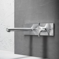 Dixi rubinetto lavabo incasso con placca a muro DIX21