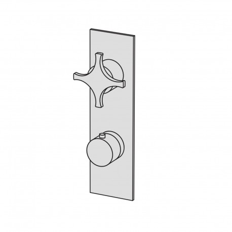Dixi thermostatic built-in mixer with stop valve