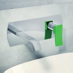 Ely rubinetto per lavabo incasso a muro con placca leva colorata e scatola ispezionabile GBOX 8835