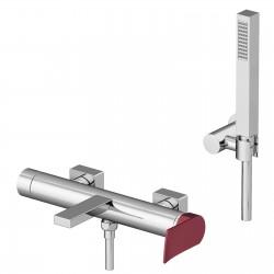 Soffio rubinetto esterno vasca con leva colorata e doccia duplex 8100