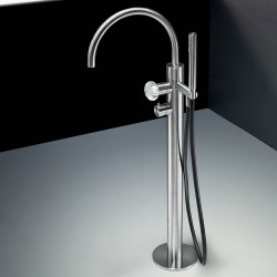 Dorin free-standing bath group with bridge-shaped spout and hand shower PD99