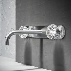 Dorin rubinetto lavabo incasso con placca a muro DOR28