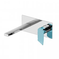 Color Cube basin mixer wall installation with inspectable box 8535