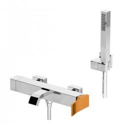 Ely rubinetto esterno vasca con leva colorata e doccia duplex 8800