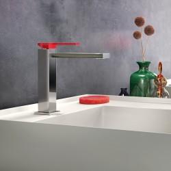 Color Cube miscelatore monocomando per lavabo con leva colorata 8542
