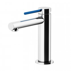 Circle One basin mixer with adjustable waste, with manual plug, flex inox, spout 120 mm