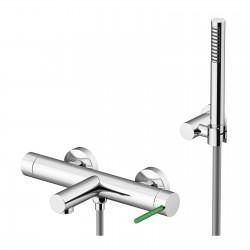 Circle One rubinetto esterno vasca con leva colorata e doccia duplex 9000