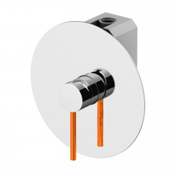 Built-in shower mixer with GBOX universal built-in box Circle One Gattoni 9030.CH