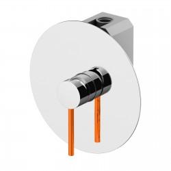 Circle One miscelatore incasso doccia e leva colorata completo di scatola universale GBOX 9030.CH