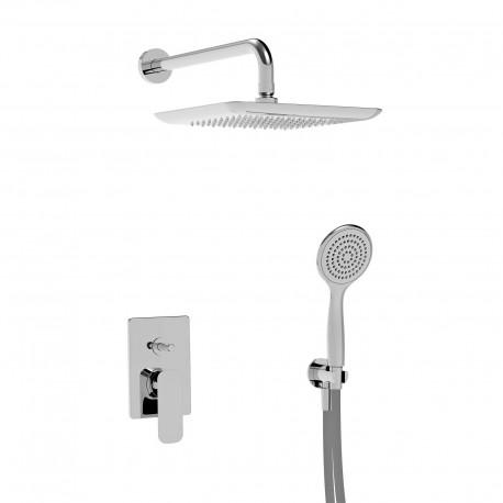 Laghi kit doccia con incasso, soffione e doccetta (44050 R SOF KIT)