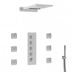 Thermostatic shower set with two outs I Laghi La Torre 83044