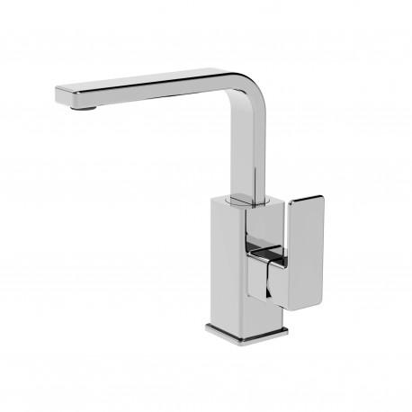 Profili rubinetto lavabo con leva laterale e bocca d'erogazione flessa (45651)
