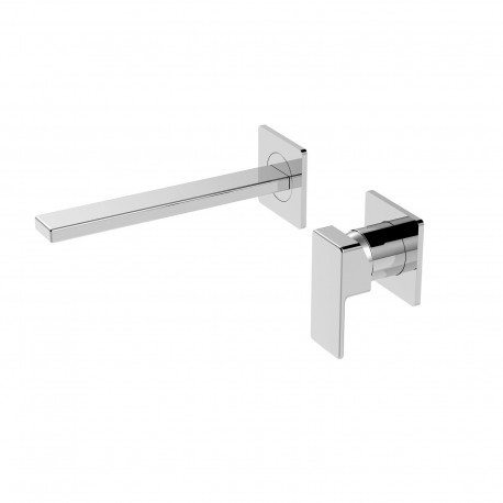 Profili rubinetto lavabo incasso a parete con aeratore  (45200)