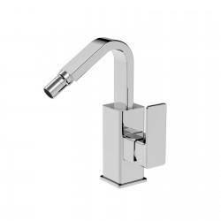 Profili rubinetto bidet con leva laterale e bocca d'erogazione flessa e scarico (45661 CS)