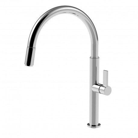 Taya rubinetto monocomando per lavello con doccetta estraibile 40781