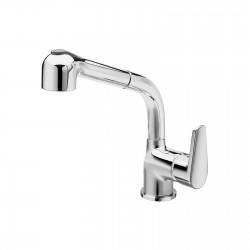 Sink mixer with pull-out shower Metrò La Torre 32081