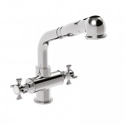Two handles kitchen mixer with pull out hand shower Victoria 25081