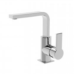 Side lever lavatory faucet with tall spout Italia 150 La Torre 35601