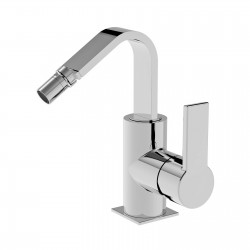 Side lever bidet faucet with pop-up waste Italia 150 La Torre 35611CS