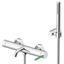 Circle Two rubinetto esterno vasca con leva colorata e doccia duplex 9100