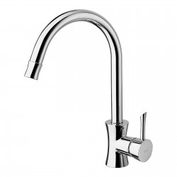 Konvex sink mixer with pull-down spray 17781