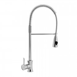 Konvex tall sink mixer with spring and double function spray 17481