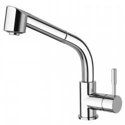 Towertech rubinetto miscelatore monocomando per lavello con doccetta estraibile 12081