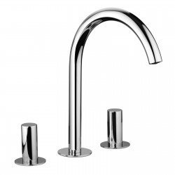 3-hole washbasin mixer with fixed spout without pop-up waste Pepe 12068