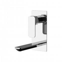 Tiara single-lever built-in basin mixer, with vertical rectangular wall flange TA634