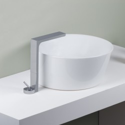 Waterblade_J exposed single lever basin mixer