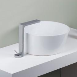 Waterblade_J exposed single lever basin mixer