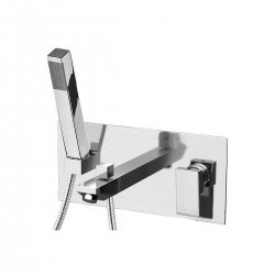 Single-lever bath mixer, with rectangular wall flange  Skyline Daniel Rubinetterie SK652