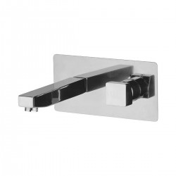 Single-lever built-in basin mixer, with rectangular wall flange Oxy Daniel Rubinetterie OX23632