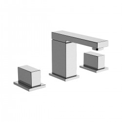 Twin washbasin set with pop-up waste W5003