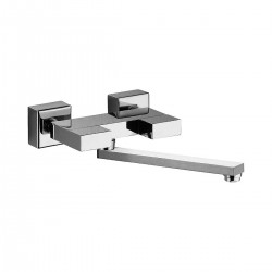 Wall mounted sink set with movable spout Twin Daniel Rubinetterie W7004