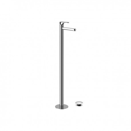 Omega single-lever mixer floor mounting with click-clack and overflow OM688