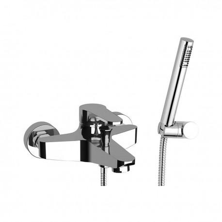 Omega rubinetto miscelatore monocomando per vasca completo di accessori OM610
