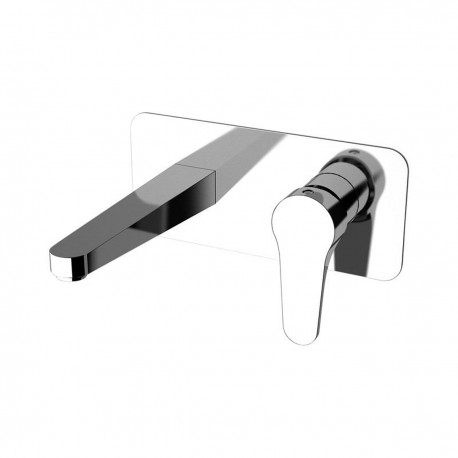 Omega single-lever built-it basin mixer, with rectangular wall flange in chrome OM632