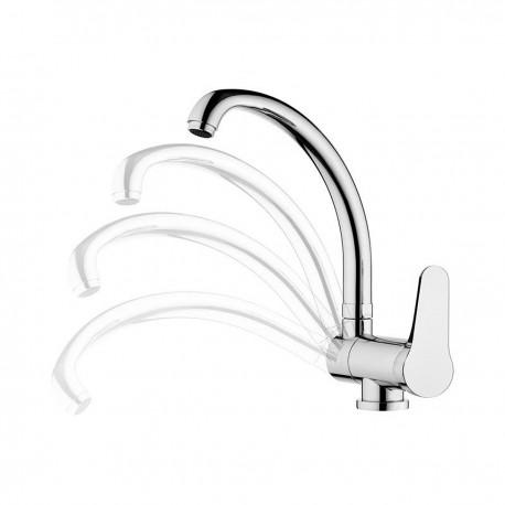 Omega rubinetto miscelatore per lavello reclinabile OM614R