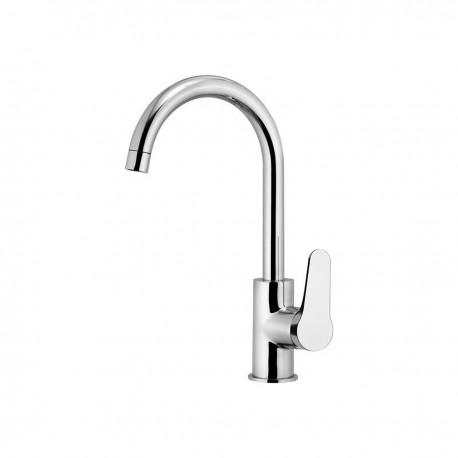 Omega rubinetto lavello con leva laterale e bocca d'erogazione alta girevole OM618