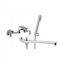 Wall basin/bath single lever mixer with cm 30 long casted spout Omega Daniel Rubinetterie OM624