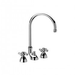 Revival washbasin set with swivel high spout and pop-up waste V5100