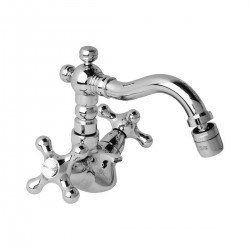 "Revival one hole bidet mixer with ""Antique"" spout and pop-up waste V6400"