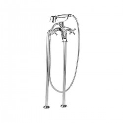 Revival traditional bathtub mixer, on floor columns, with shower V4101XL