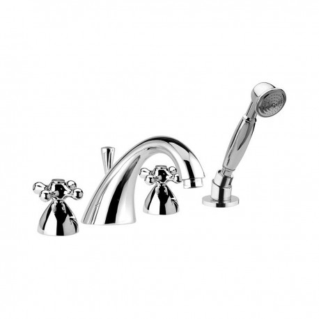 Revival bathtub set with pull-out shower V4192