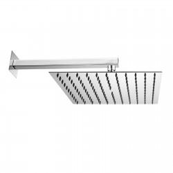 Twiggy soffione a parete quadrato 300x300 mm completo di braccio squadrato H69585I