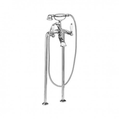 Retrò traditional bathtub mixer, on floor columns, with shower RT4102XL
