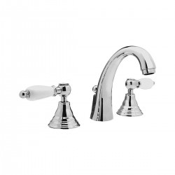 Retrò washbasin set with high spout with pop-up waste RT5003L