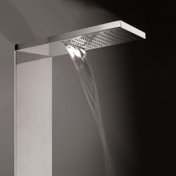 Manhattan Flat 3 function stainless steel shower panel L00928